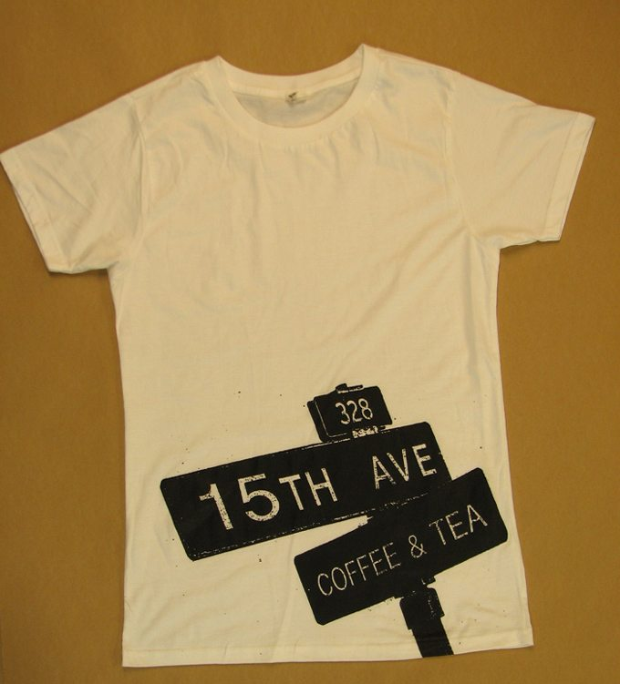 15th Avenue Coffee and Tea t-shirt