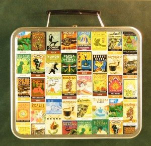 Starbucks Coffee Postage Stamp Lunch Box