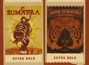 Starbucks Sumatra and Aged Sumatra Coffee postage Stamps