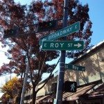 Broadway meets Roy Street Signs