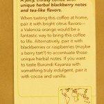 Burundi Kayanza Coffee Card