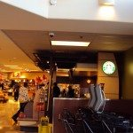 Interior of licensed Starbucks