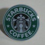 Starbucks logo pin