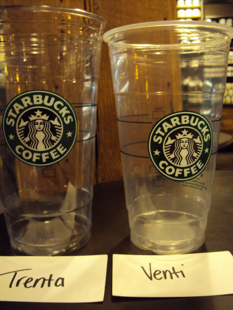 Starbucks Tests The Trenta Size Cup Starbucksmelody Com