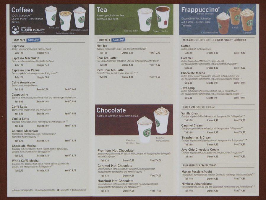 Starbucks Drink Prices Australia