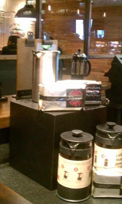 a coffee tasting of the new starbucks reserve coffees