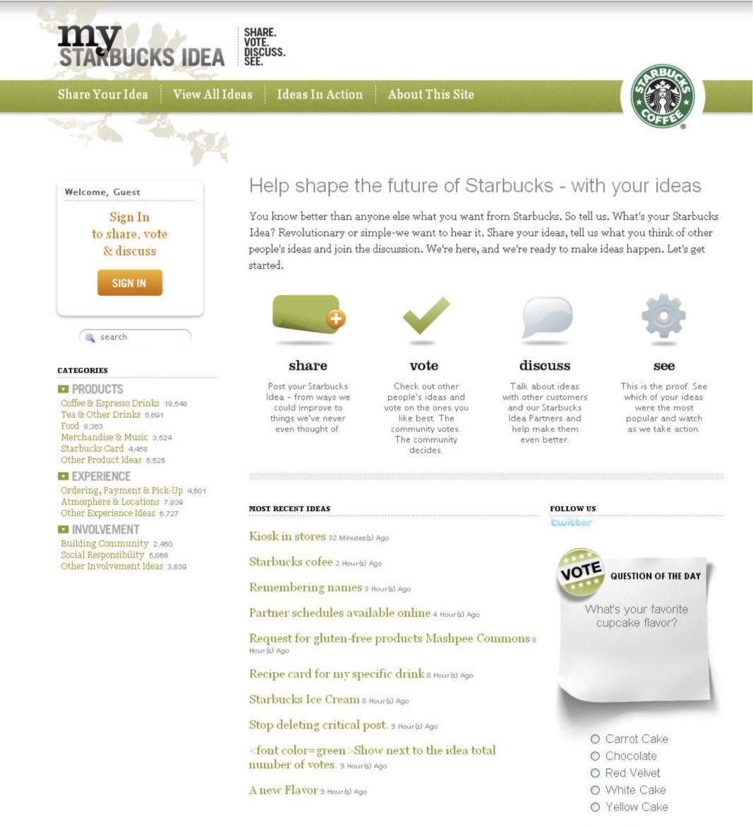 mystarbucksidea: then and now - has anything changed