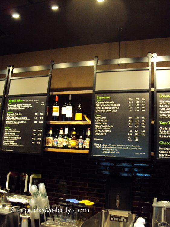 Sneak Preview Of The 4th Beer Amp Wine Starbucks Opening In