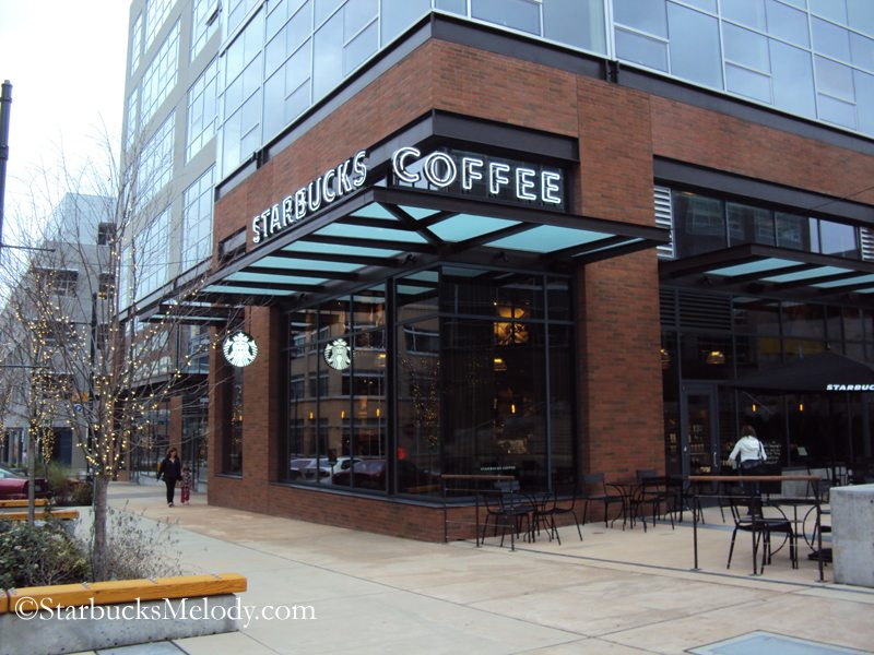 Grand opening starbucks opens a new clover and future for Cafe design exterior