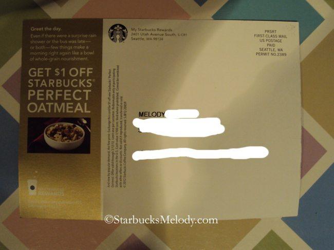 My Starbucks Rewards Coupon 1 Off Perfect Oatmeal Starbucksmelody Com