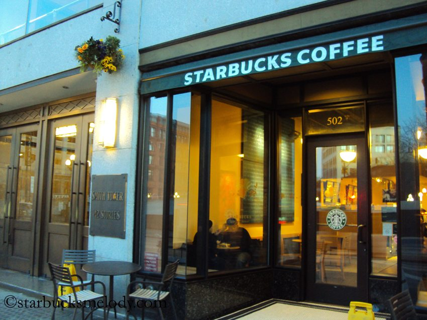 Starbucks to close smith tower store february 17 2012 for Exterior design for shops
