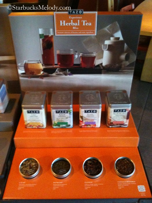 starbucks stores with the iced peach tazo tea test the displays and