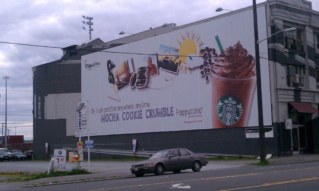 Mocha Cookie Frappuccino Billboard 29 April 2012