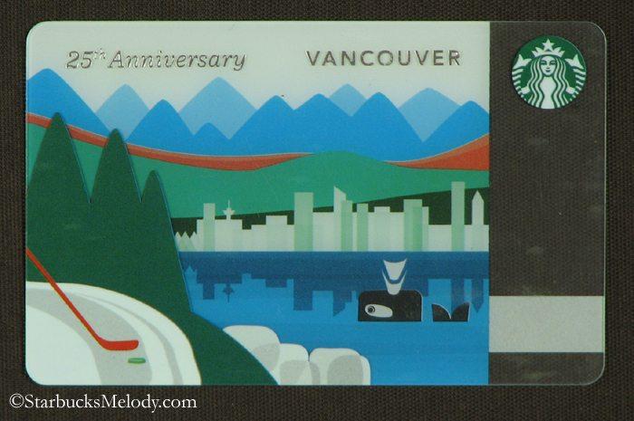Th anniversary vancouver bc canada starbucks card