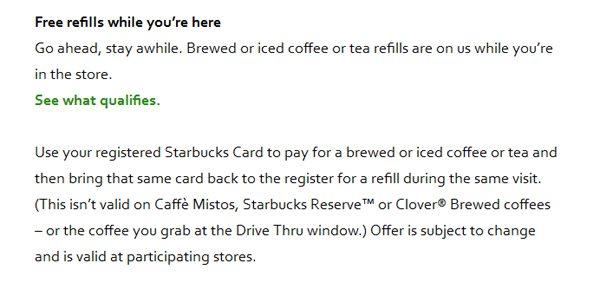 A Close Up Look My Starbucks Rewards Free Refills 3 Of 4