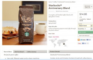 Anniversary Blend image from StarbucksStore