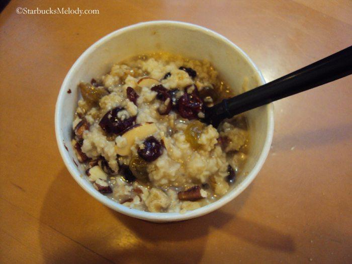 Starbucks oatmeal
