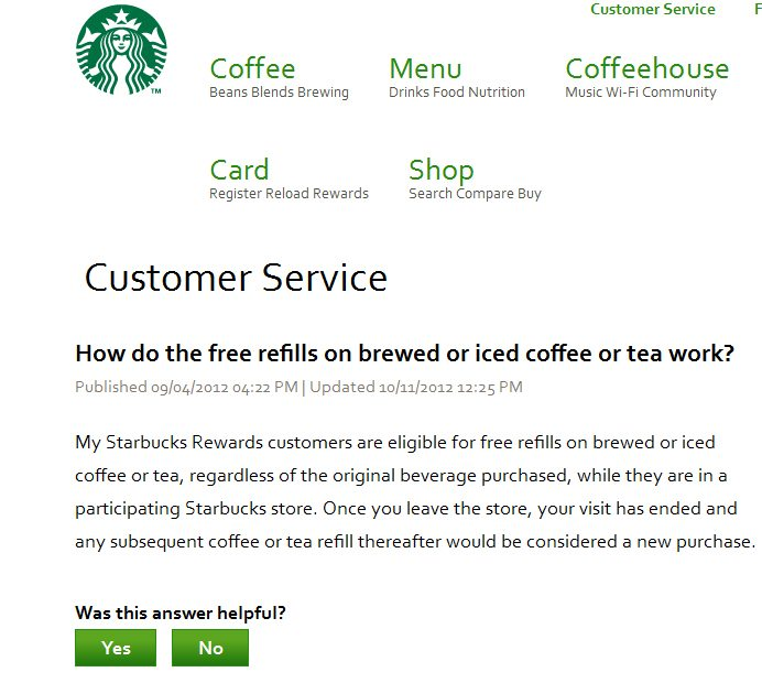91449b89032e The refill policy at Starbucks  Refills are regardless of original ...