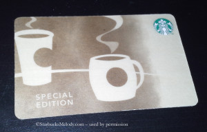 Birch Wood Starbucks card available March 5 2013 - collectible