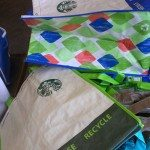 IMAG4016 Coffee Gear Store - Starbucks grocery sacks made from plastic bottles 22 Feb 2013