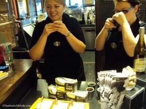 6769 Deb and Danielle leading Peru coffee seminar 25March2013 Starbucks