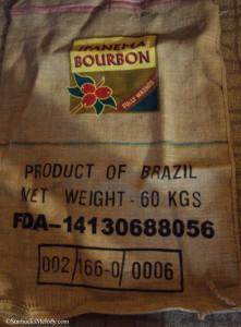 BurlapCoffeeBagStarbucks Brazil Ipanema Bourbon 2009 copy