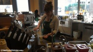 IMAG4244 Maria at Starbucks store 101 on 18 March 2013