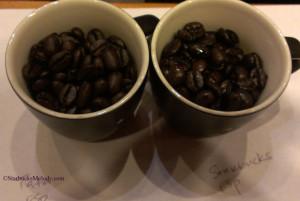 IMAG4409 Starbucks India Esp Roast side by side with US Starbucks Espresso roast 29Mar2013