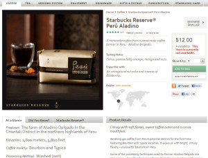 screen shot Peru Aladino StarbucksStore