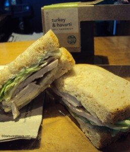 6948 Turkey and Havarti Sandwich Starbucks 30 April 2013