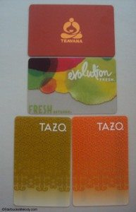 DSC06820 Teavana Evolution Fresh Tazo Starbucks Cards 23 April 2013