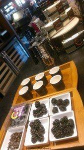 IMAG4756 Set up for Tanzania coffee seminar 15 April 2013 Olive Way Starbucks