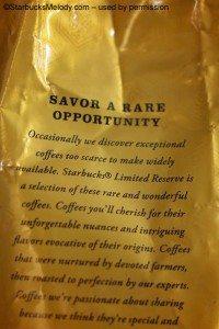 Savor a rare opportunity