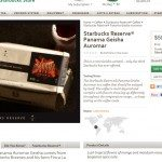 Screen cap from Starbucksstore Panama Geisha Auromar