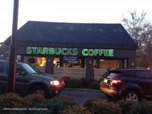 image outside Peachtree Battle Starbucks