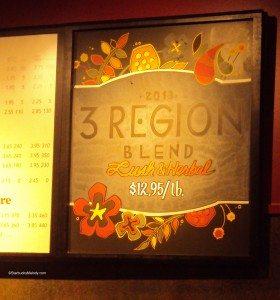 7053 - 3 region blend sign at Key Tower Starbucks 29 may 2013