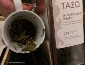 IMAG4977 Berry Blossom White Tazo whole leaf tea - Tazo tea store 4 may 2013