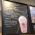 IMAG4998 Frappuccino chalk sign what your barista dreamed up Northgate Mall Food Court Starbucks 4 May 2013