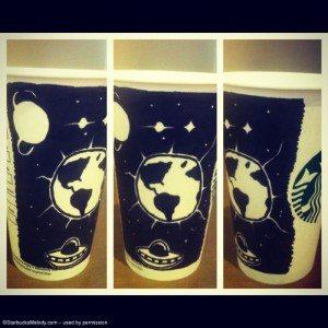 5-7-2013 928 - Joel Hall Starbucks cups