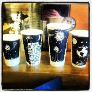 5-7-2013 929 - Joel Hall Starbucks cups