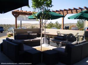 Prescott AZ outdoor seating Clover Starbucks