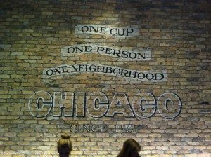 photo-8 Chicago since 1987 brick wall Oak and Rush Starbucks
