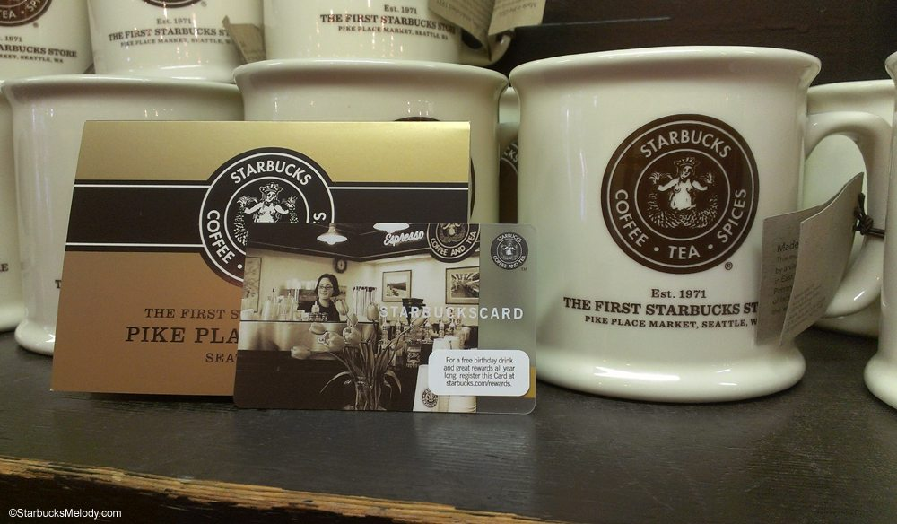 The Exclusive 1912 Pike Place Starbucks Card Made in the USA Mug – Starbucks Card Birthday Month