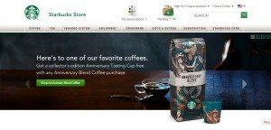 Anniversary Blend StarbucksStore screen cap 23 August 2013