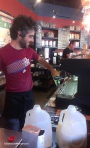 IMAG6642 Matt at work at Roy Street 17 August 2013