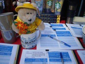 Bearista Bear in Pike Place Mug