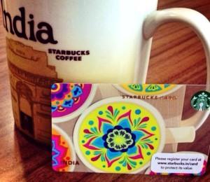 Starbucks India 19 August 2013 - Mug and Card