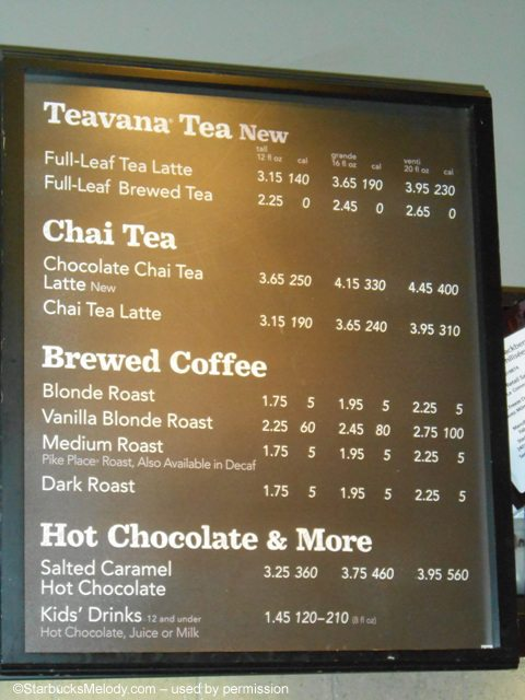 """starbucks price skimming At the midtown manhattan store i frequent, a """"venti"""" cup — 20 ounces of joe — rose 10 cents to $255 before tax, while a """"tall"""" 12-ounce cup stayed at $195."""