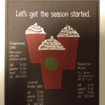Signage gingerbread latte