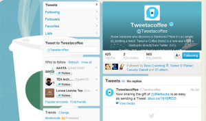 Untitled-1 Tweet a coffee Twitter profile